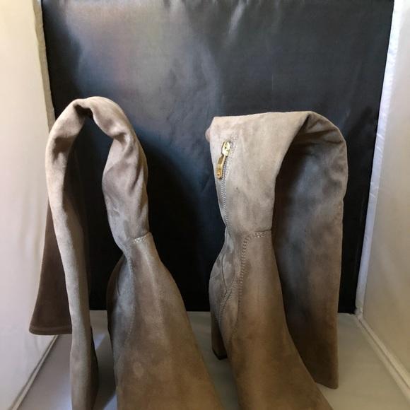6ecd123528f Liz Claiborne Leyla Taupe Over The Knee Boots